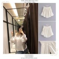 50108 White Off Shoulder Top / Blouse Putih Tanpa Bahu