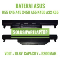 BATERAI ASUS K55 K45 A45 X45U A55 A75 K45D K45N A32-K55