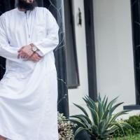 Edisi Haji & Umroh Baju Muslim Pria Al Amwa Jubah Zipper Panjang