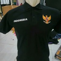 kaos polo shirt - kaos kerah Timnas Indonesia Tshirt keren