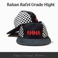 Topi 5 Panel Distro Varian AHHA Bahan Rafel Berkualitas - Terlaris