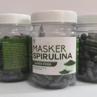 Masker wajah Spirulina isi 100 kapsul/ botol