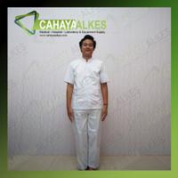 Baju Seragam Perawat Pria Lengan Pendek | Uk S M L XL