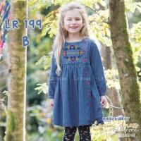 Baju Anak Perempuan Dress Lengan Panjang Lil' Rose size 8 th - 13 th