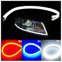 DRL LED Strip Angel Eye / Lampu Variasi Mobil / Motor 30cm - Yellow