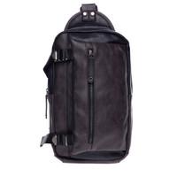 Urban State - Pu Buckled Zipper Small Slingbag - Black