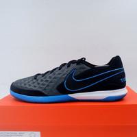 Sepatu Futsal Nike Legend 8 Academy IC Black Blue Hero AT6099-004 Ori