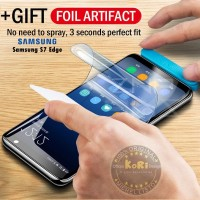[KoRi] Anti Gores Samsung S7 Edge Hydrogel Full Cover Screen Tempered