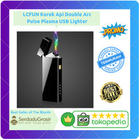 Korek Api Elektrik Double Arc Pulse Plasma USB Lighter Rechargeable