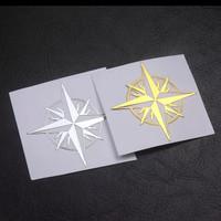 stiker 3D emblem logam nikel, mobil motor