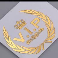 stiker 3d emblem VIP logam nikel ,mobil motor