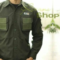 Kemeja Pria Taktikal Tactikal Panjang Pakaian Busana Baju Cowok Army