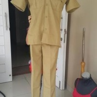 terkeren berkualitas Murah Kemeja Formal Baju Seragam khaki PDH