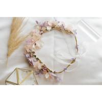 Bando Mahkota Bunga/Flower Crown Cantik Ala Princess J810