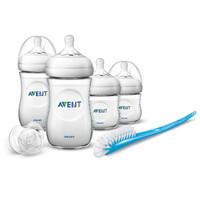 Philips Avent Newborn Starter Set Natural | Baby Bottle Brush Pacifier