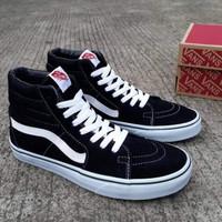 Sepatu Vans Sk8 Hi Black White HIgh DT Premium size JUMBO