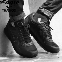 Eagle Thanos Full Black Size 37-48 Sepatu Sekolah ORIGINAL Eagle Shoes