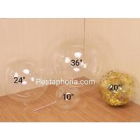 Balon PVC Transparan Size 20 (50cm) / Bubble Balloon Size 20 (50 cm)