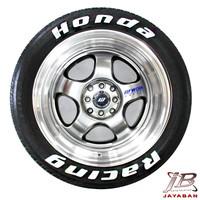 Honda Racing Tire Sticker / Tire letter / Tire Graphic /Stiker Ban