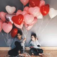 Balon LOVE HATI Latex Elastis Heart