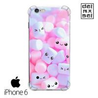 Cute Marshmallow Casing Iphone 6 6s Anti Crack Anticrack Case HP
