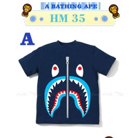 Tshirt BAPE A - Kaos BAPE Anak Laki-Laki Import