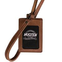 Name Tag ID Card Holder Temboro Kalung Premium ID Badge Leather