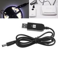 Adapter Converter Kamera CCTV DC 12V 9V 1A dengan LED Strip USB Male