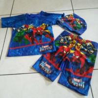 baju renang setelan anak lelaki avengers