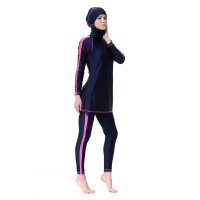 BAJU RENANG MUSLIM WANITA Swimwear Plus Size Hijab Beach Wear Patchwor