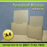 Tempat Brosur Akrilik Ukuran A4   Display Akrilik   Brosur Holder - A4
