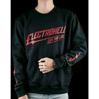 Kaos Lengan Panjang Electrohel - Baju Longsleve Big Size Electrohell