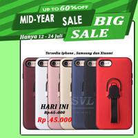 Iphone 8 Plus Case Stand Ring Holder Magnet Bumper Matte Casing