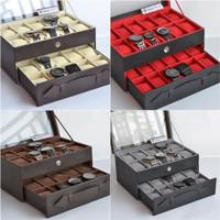 PROMO - Kotak Tempat Jam Tangan isi 20 JUMBO / Large Size Watch Box