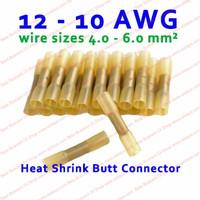 Penyambung kabel Listrik Bakar Konektor Kuning Waterproof 12-10 AWG