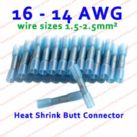 Penyambung kabel Listrik Bakar Konektor Biru Waterproof Blue 14-16 AWG
