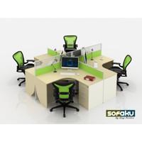 FONGHAI L Shape Office Desk - Meja Kantor Kerja Bentuk L