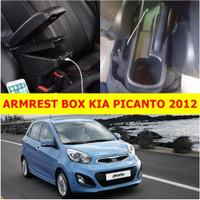 Arm Rest Box Kotak Alas Lengan KIA PICANTO 2012 dual stack 7 Port USB