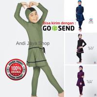 Baju Renang Anak SD Muslim Muslimah ML-TG-P Polos SIZE M - XL
