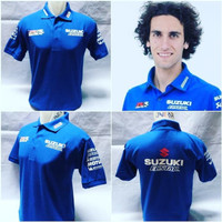 Polo Shirt Suzuki RR GSX Ecstar - Baju Kaos Kerah MotoGP Rins