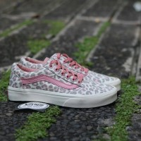 Sepatu Wanita Promo Vans Oldskool Leopard Grade Original Murah Terbaru