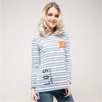 Baju Kaos Atasan Wanita Lengan Panjang Seyes 4537 Spandex