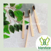 [Charcoal] Sikat Gigi Bambu Eco-Friendly Bamboo Toothbrush