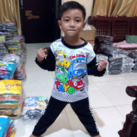 Piyama Anak Cowo/Cewe Motif Tayo Umur 0 - 10th Baju Tidur Lucu Murah