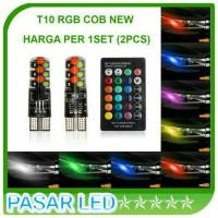 Lampu LED Senja T10 RGB 2Pcs Warna Banyak Kontrol Remote