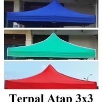 atap tenda lipat 3x3 - Biru