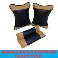 Bantal leher premium Bantal mobil headrest mobil aksesoris mobil