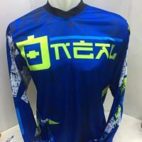 Kaos jersey sepeda-baju kaos motor cross O'Neal biru 1054