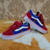 Vans Old Skool Spiderman Sneakers For Kids/Sepatu Pesta Anak Laki-laki