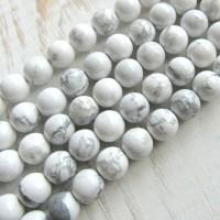 Batu Natural White Howlite 10mm / Grosir Bahan Gelang Kalung Handmade